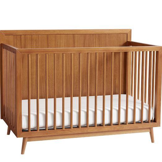Mid Century Convertible Crib Acorn In 2020 Convertible Crib