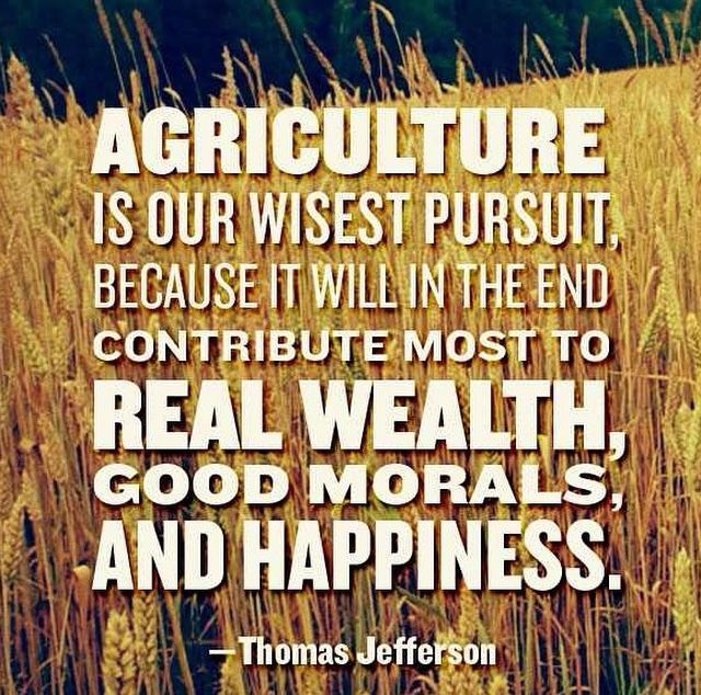 Ag Quote Agriculture Is Our Wisest Pursuit  Quotes Loved  Pinterest