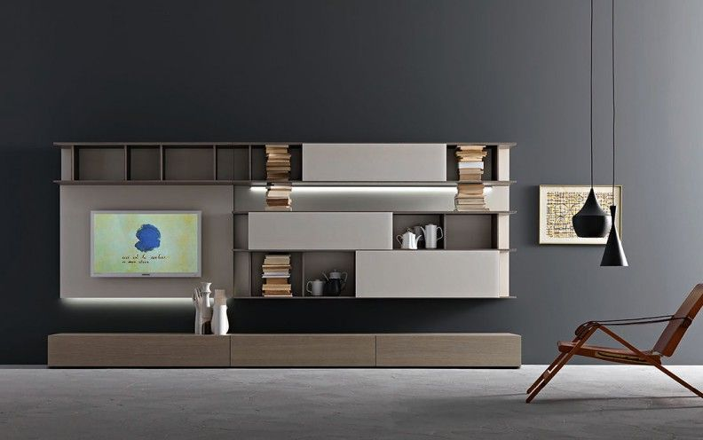 designer wohnw nde stilvolles zentrum f r ihr wohnzimmer tv nitesi. Black Bedroom Furniture Sets. Home Design Ideas