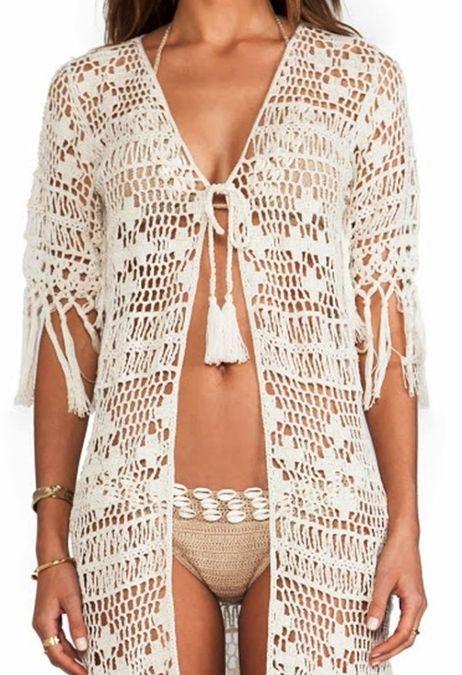1054b3da4b877 Пляжный халат крючком схемы. Вязание для пляжа крючком | | Crochet 8 ...