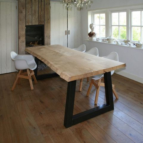 Boomstam tafel en meer kracht karakter en eerlijkheid keuken ideeen pinterest tables - Lay outs oud huis ...