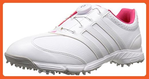 adidas Women's W Response Boa Golf Spiked, FTWR White/Matte Silver/Raspberry  Rose-TMAG, 6 M US -- Visit the image link more details.