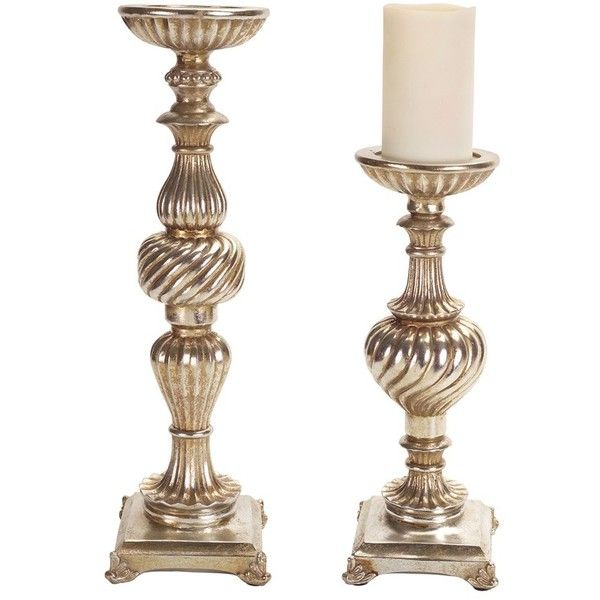 Melrose Gifts Pillar Candle Holders ($120) ❤ Liked On Polyvore Featuring  Home, Home