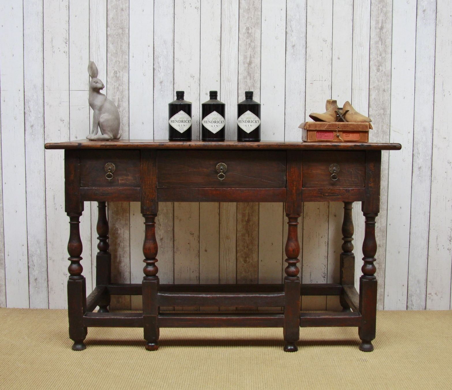 Very old English oak console table 19500 available to purchase