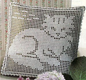International Crochet Patterns, filet crochet pillow with ...