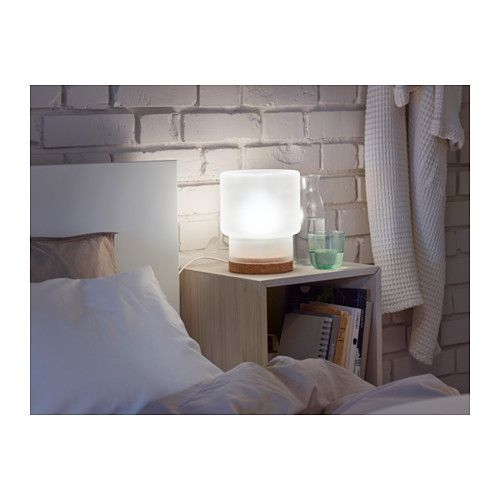 SINNERLIG Table Lamp, Frosted Glass, Cork Frosted Glass/cork 9