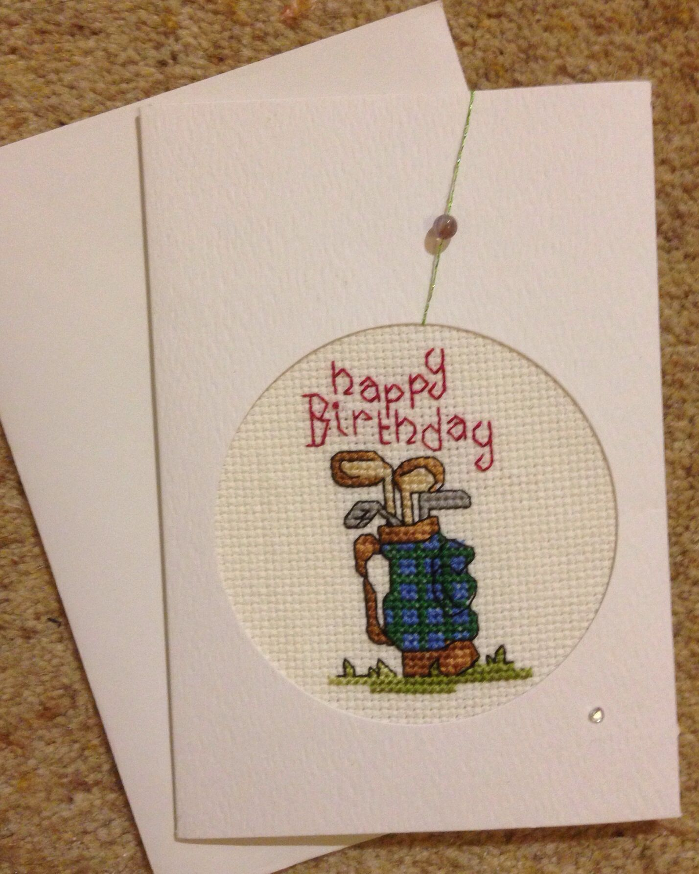 Free Printables I Made This Golf Birthday Card Cards Cross Stitch Thank