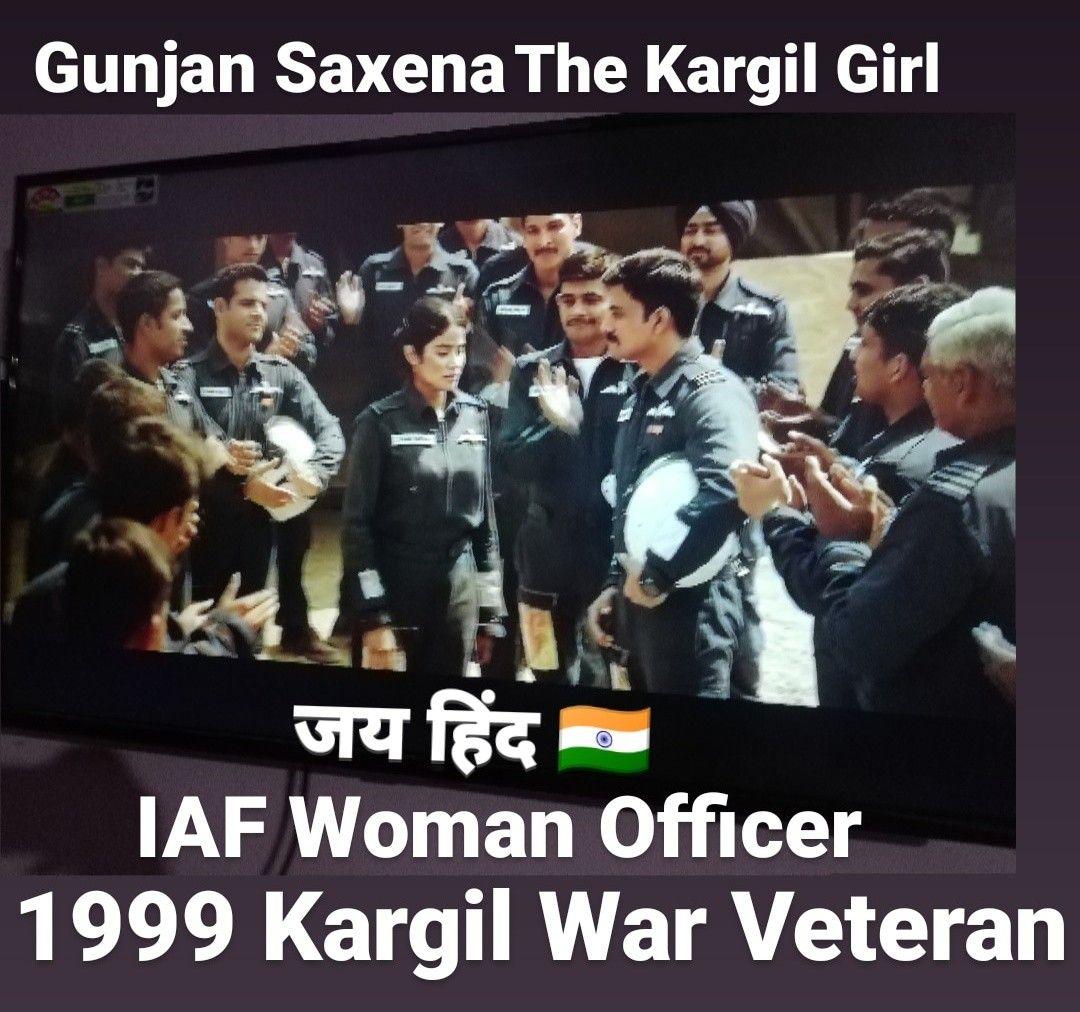 What A Movie Gunjan Saxena The Kargil Girl Movies War Veterans Kargil War