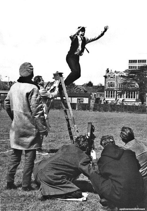 Filming a hard days night
