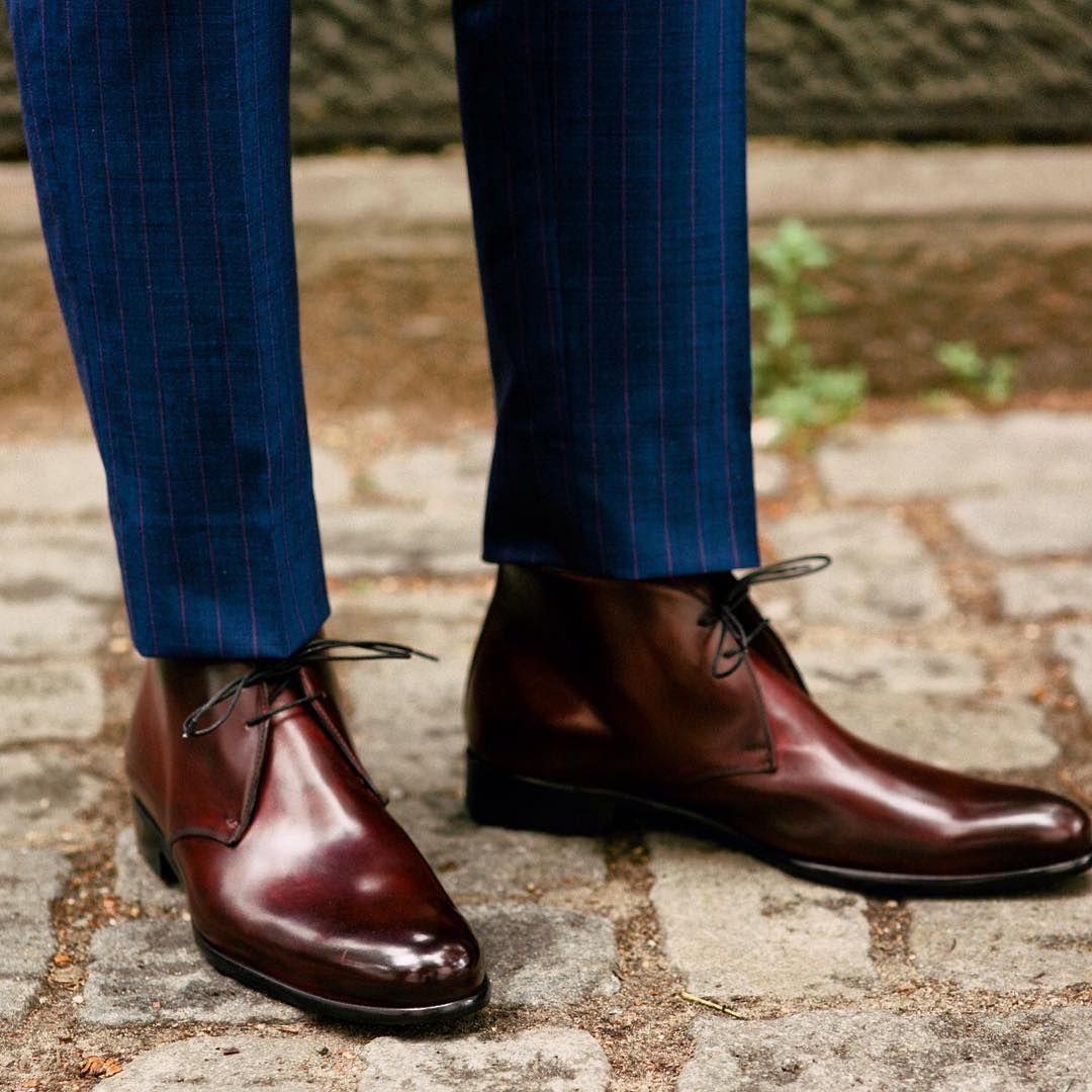 Paul Evans - Newman Chukka Boot - Oxblood   Dress Shoes - Brown ...
