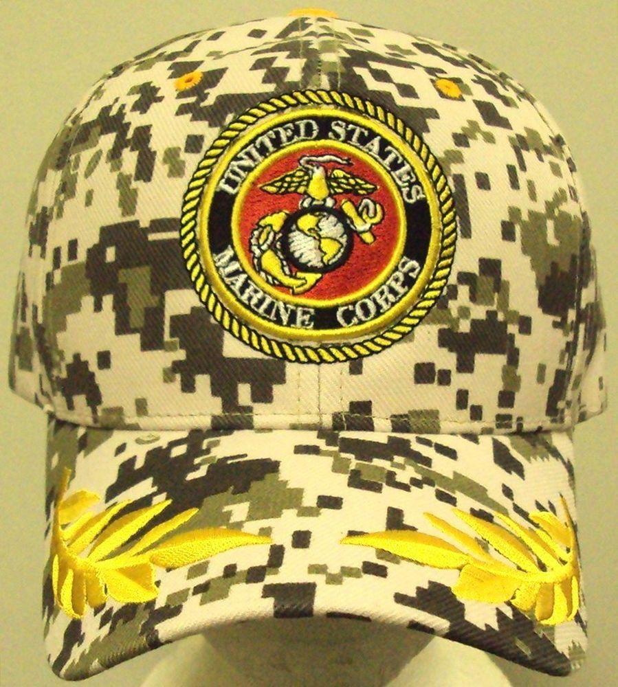 RIPSTOP CAMO MARPAT DESERT U.S MARINE CORPS USMC EGA EAGLE GLOBE ANCHOR CAP HAT