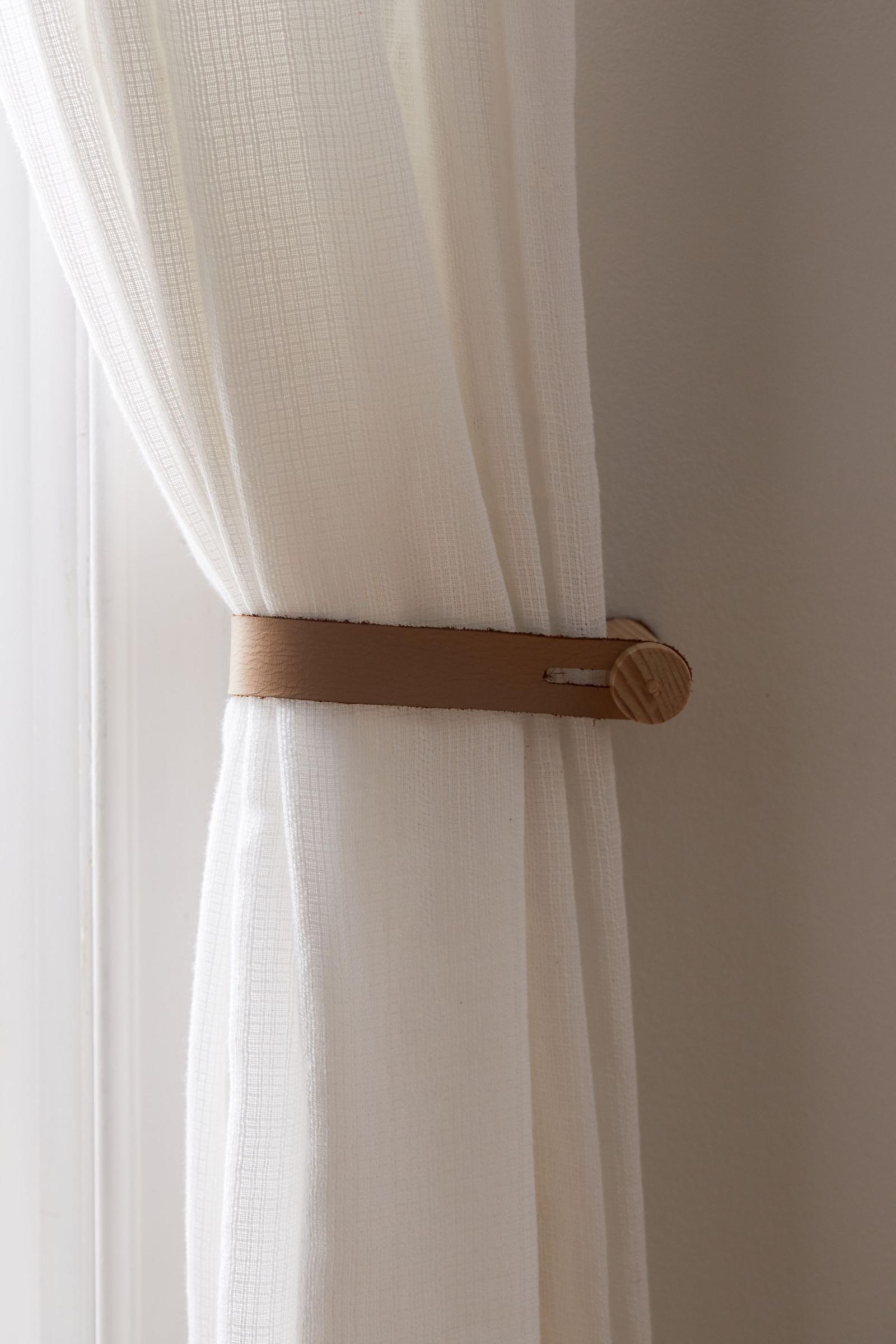 ella leather curtain tie back urban
