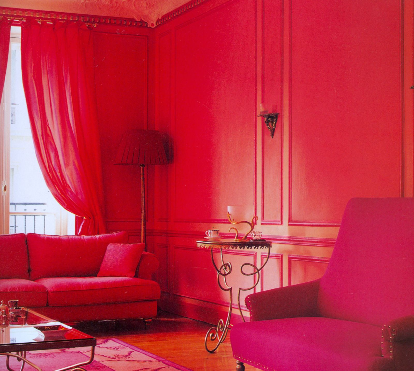 I Love This Fuchsia And Watermelon Pink Living Room In