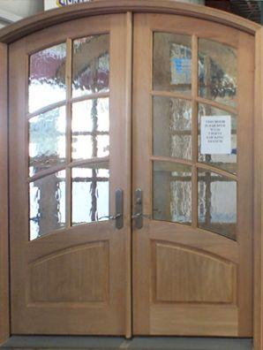 Wood Double Entry Door Unfinished Wood Exterior Doors