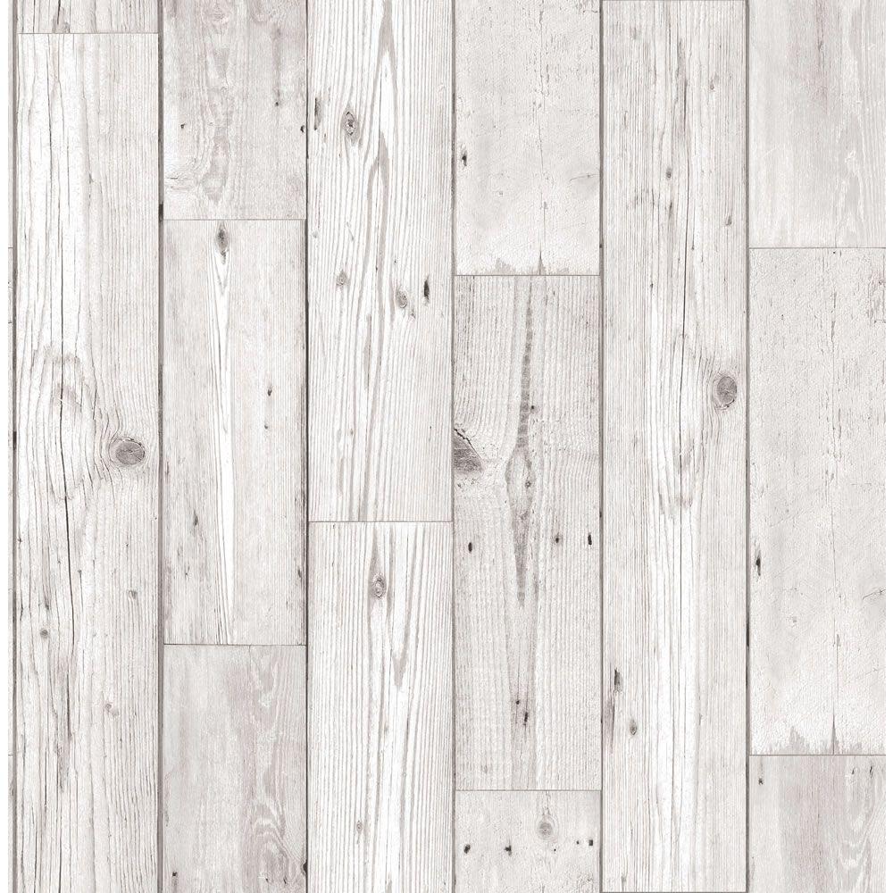 Neutral Wood Effect Wallpaper