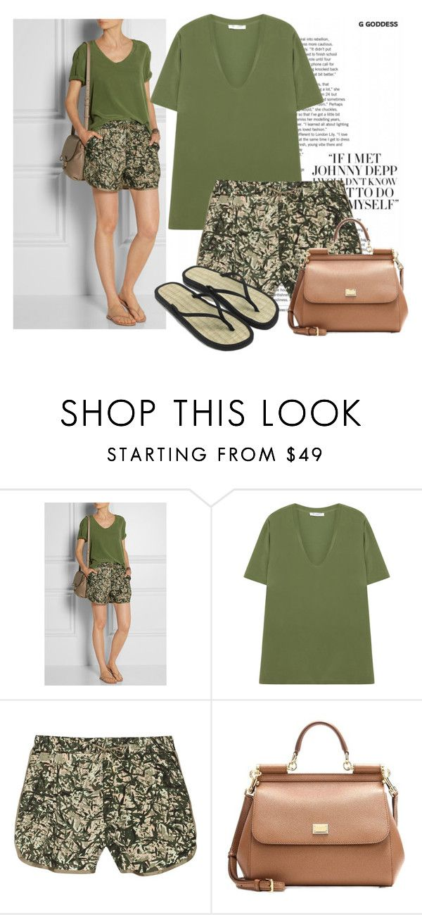 """""""Net-a-porter"""" by ivanoe ❤ liked on Polyvore featuring Tkees, Equipment, DAY Birger et Mikkelsen, Dolce&Gabbana and Accessorize"""