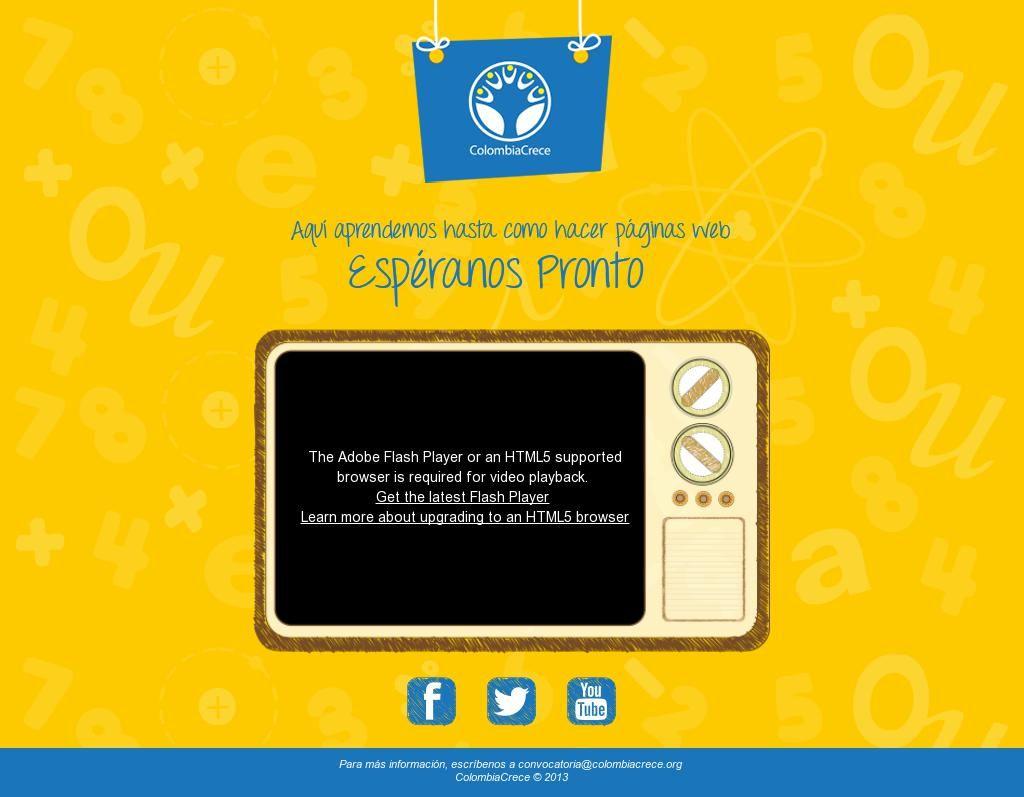 Ideas de Expectativa en la Web. Pagina web de un nuevo proyecto de Emarketing. The website 'http://colombiacrece.org/' courtesy of @Pinstamatic (http://pinstamatic.com)