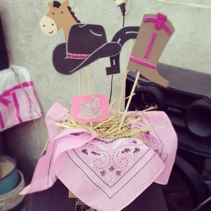 Arreglos Para Baby Shower Vaquero.Cowgirl Baby Shower Centerpiece Centro De Mesas Vaquero