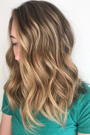honey with Dark highlights hair brown blonde