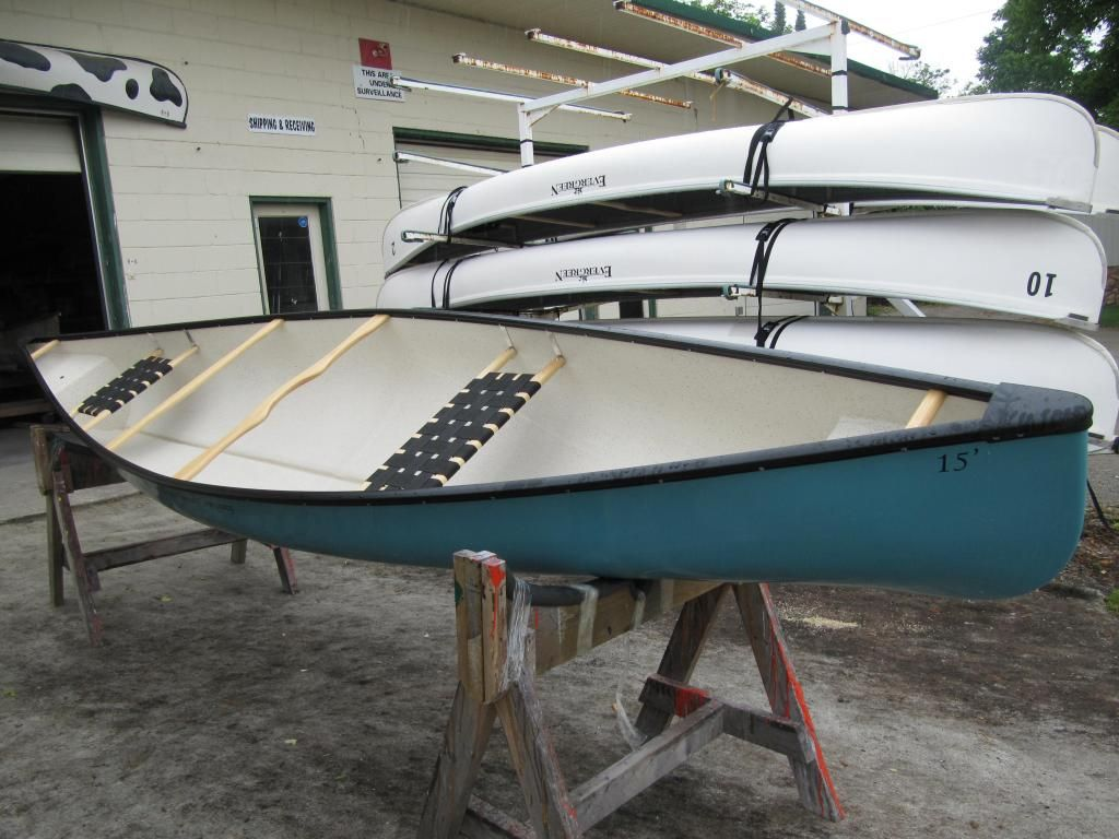 15 Algonquin Prospector Canoe Photo: Repair work on other brands of