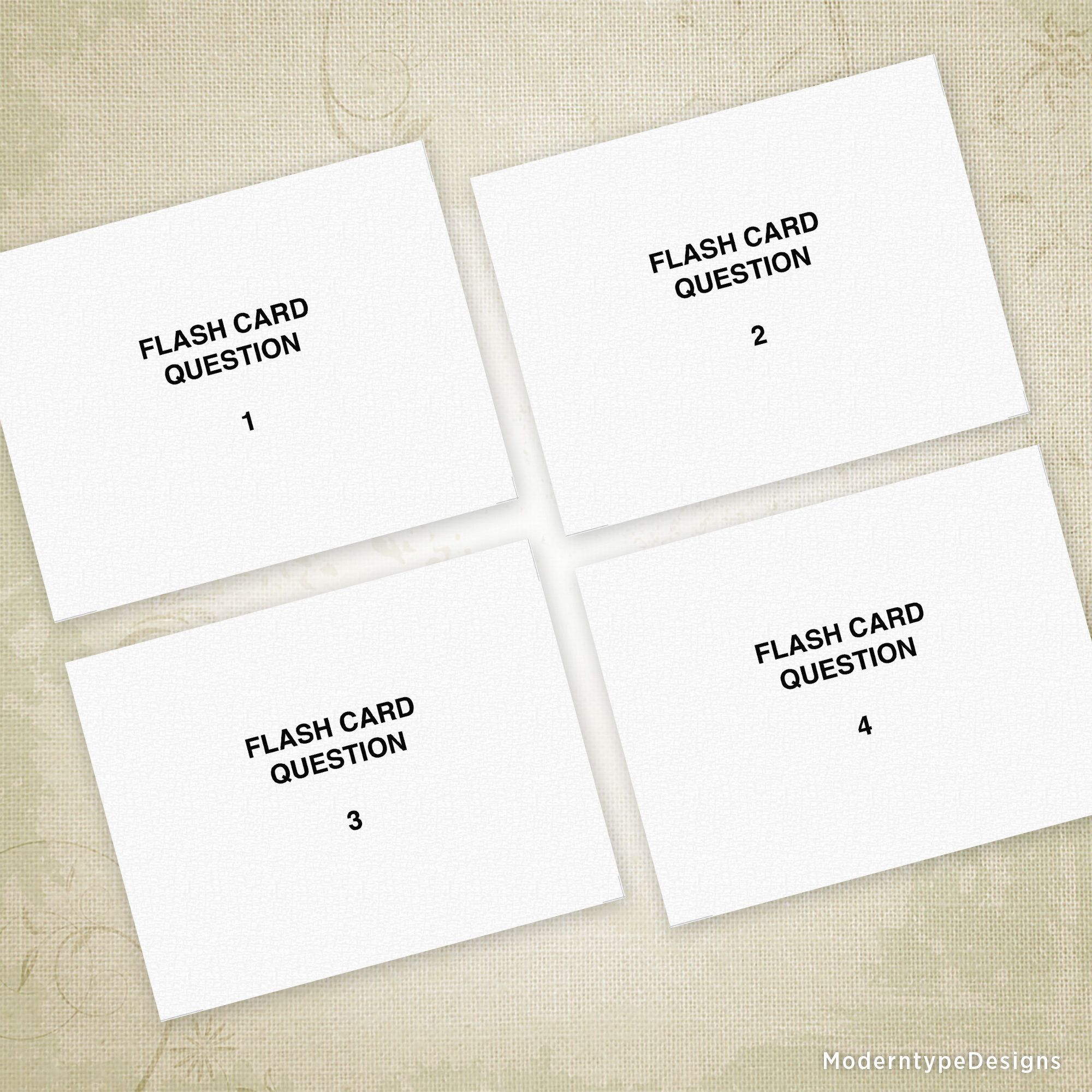 Flash Cards Printable, Notecards For Studying, Flashcards