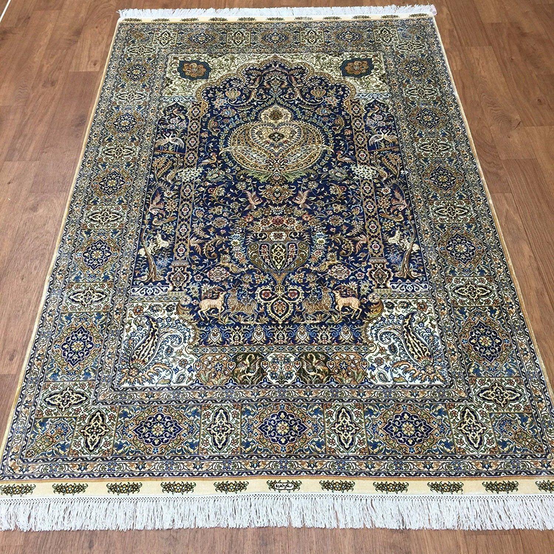 Beautiful Vintage Isfahan Persian Rug 51078 By Nazmiyal