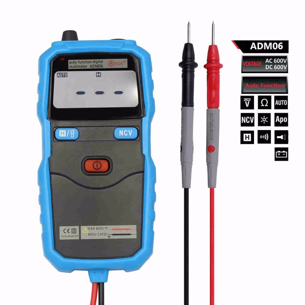 Bside Adm06 Auto Function Mini Pocket Digital Multimeter Ac Voltage A830l Lcd Voltmeter Ammeter Ohm Dc Circuit Volt Detector Diode Test With Backlight And