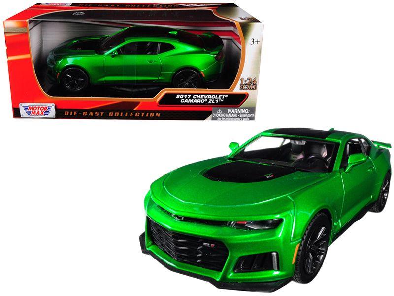 2017 Chevrolet Camaro Zl1 Metallic Green 1 24 Diecast Car Model By