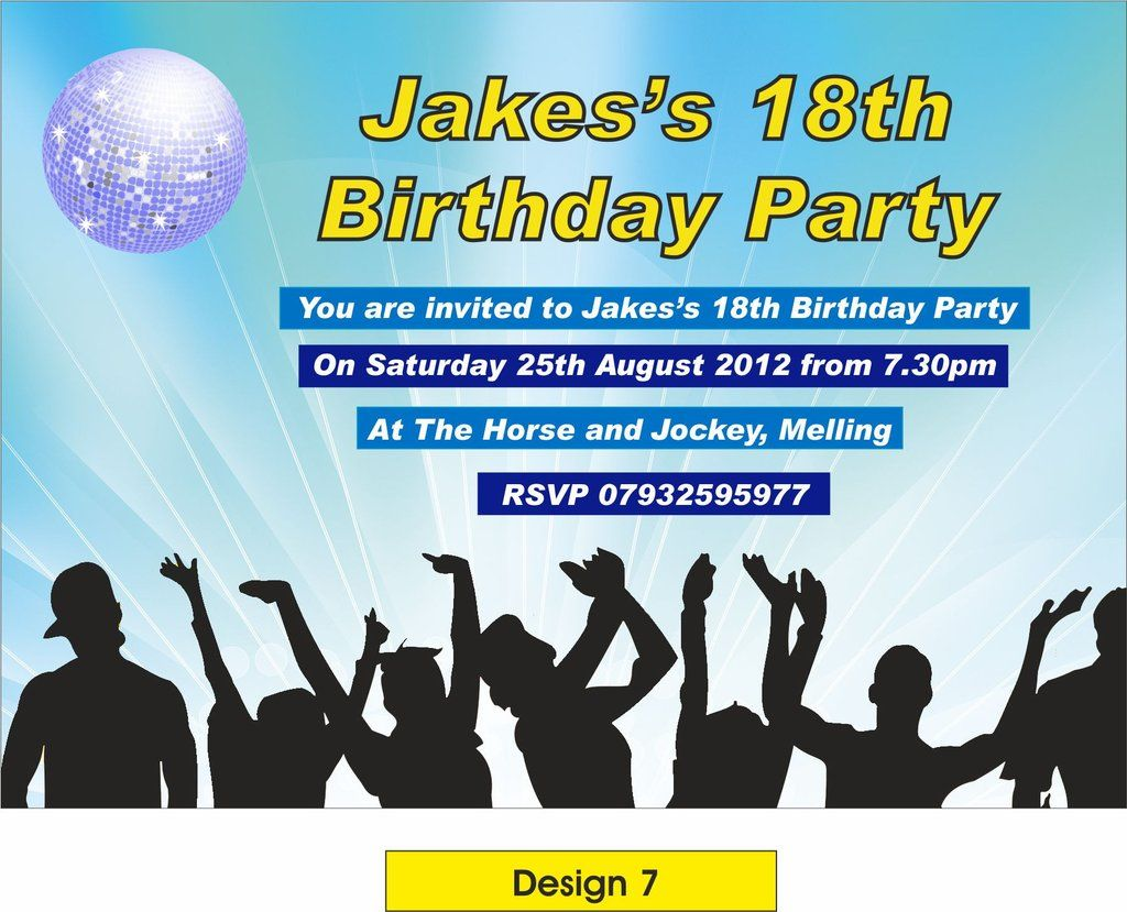 Personalised Teenage Girls Birthday Party Invitations Cards