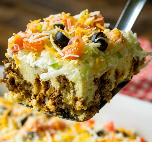 Cheesy Taco Casserole - cookingfun recipes#breakfast#easy recipes#yummy#cake&bread#dinner#salad#soup#chicken#drinks#pasta