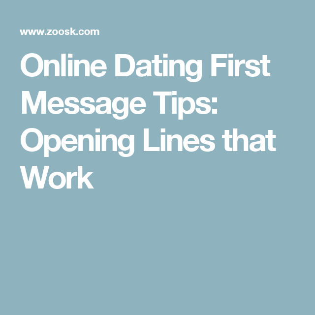 Dating website opening lines
