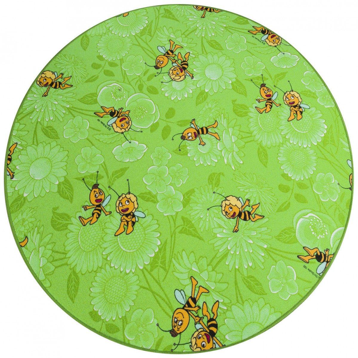 Teppich rund kinderzimmer grün  Biene Maja Teppich grün rund! Für alle Kinderzimmer geeignet | So ...
