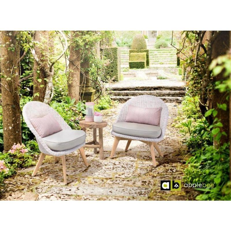 Apple Bee Fleur Lounge Sessel mit Teakholzgestell
