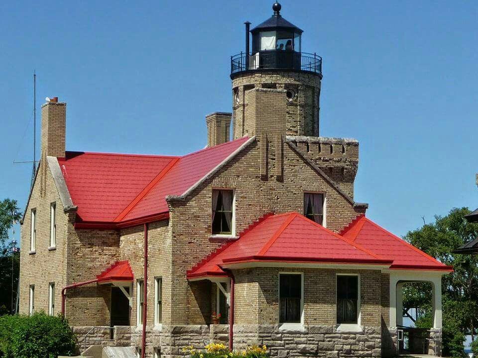 Old Mackinaw Port Lighthouse. Mackinaw City, MI Faro