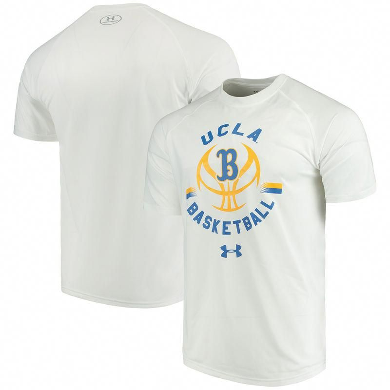 UCLA Bruins Under Armour Basketball Tech T-Shirt – White  uclabasketball c9c40bf12
