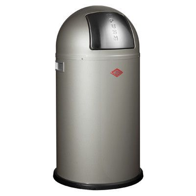Wesco Pushboy Chroom.Wesco Pushboy 11 4 Gallon Swing Top Trash Can Products
