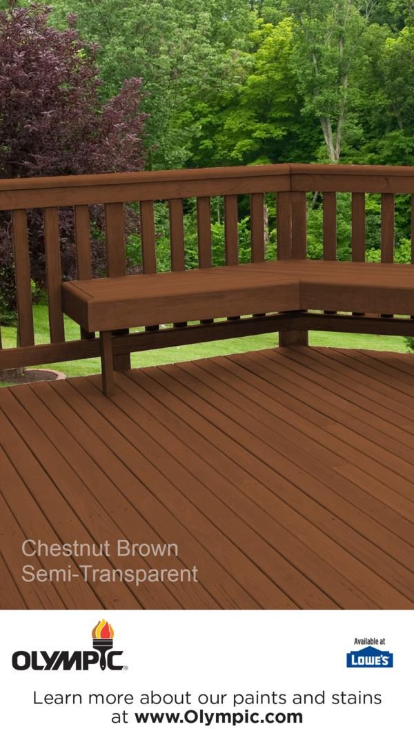 Chestnut Brown Is A Part Of The Olympic Elite Colors Semi Transpa Collection By Stains