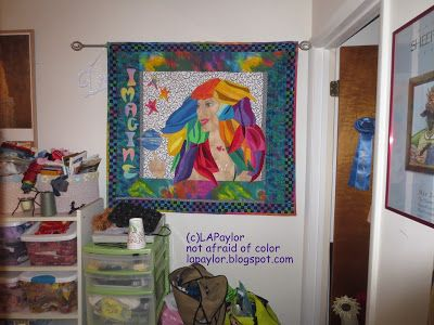 Finished or Not Friday at Busy Hands Quilts.  Not Afraid of Color: Finding the Muse while finding your stuff