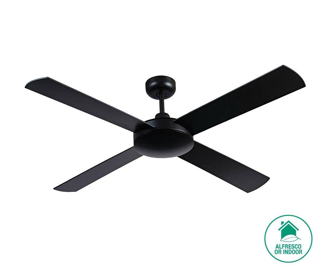 Futura 132cm Fan Only In Black Ceiling Fan Ceiling Fan With Light