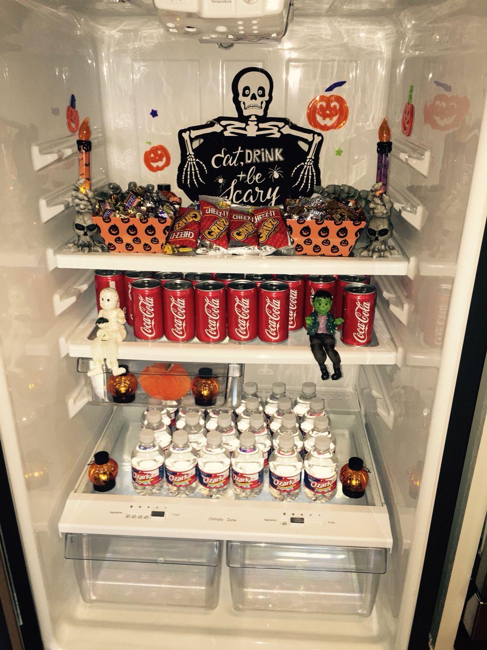 cute halloween wow fridge i made for our model apt