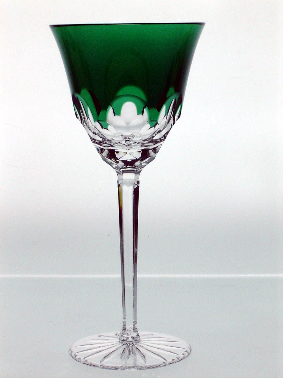 Regan crystal wine glass, amethyst purple and emerald ...