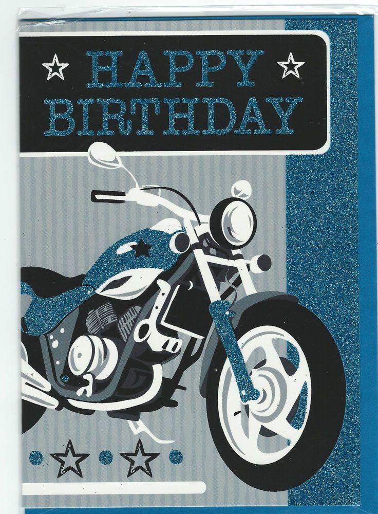 Male Birthday Motorbike Card By The Design Studio Free Uk P P
