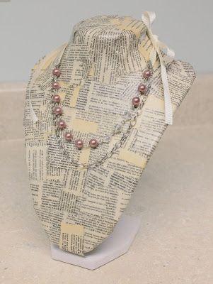 little lovelies: tutorial: book print necklace stand