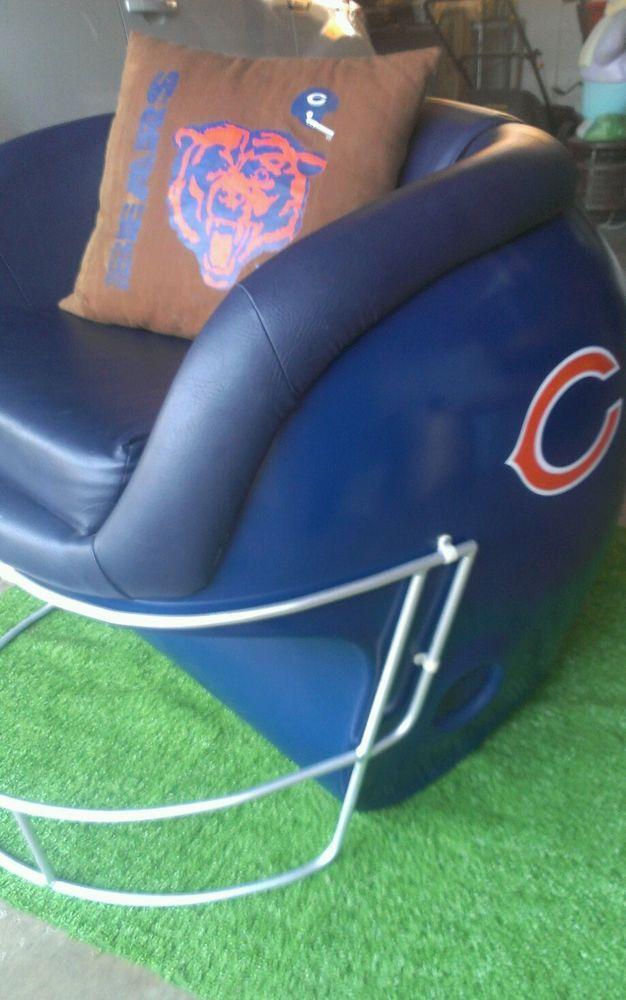 Chicago Bears Helmet Chair Nfl Rare, Chicago Bears Furniture