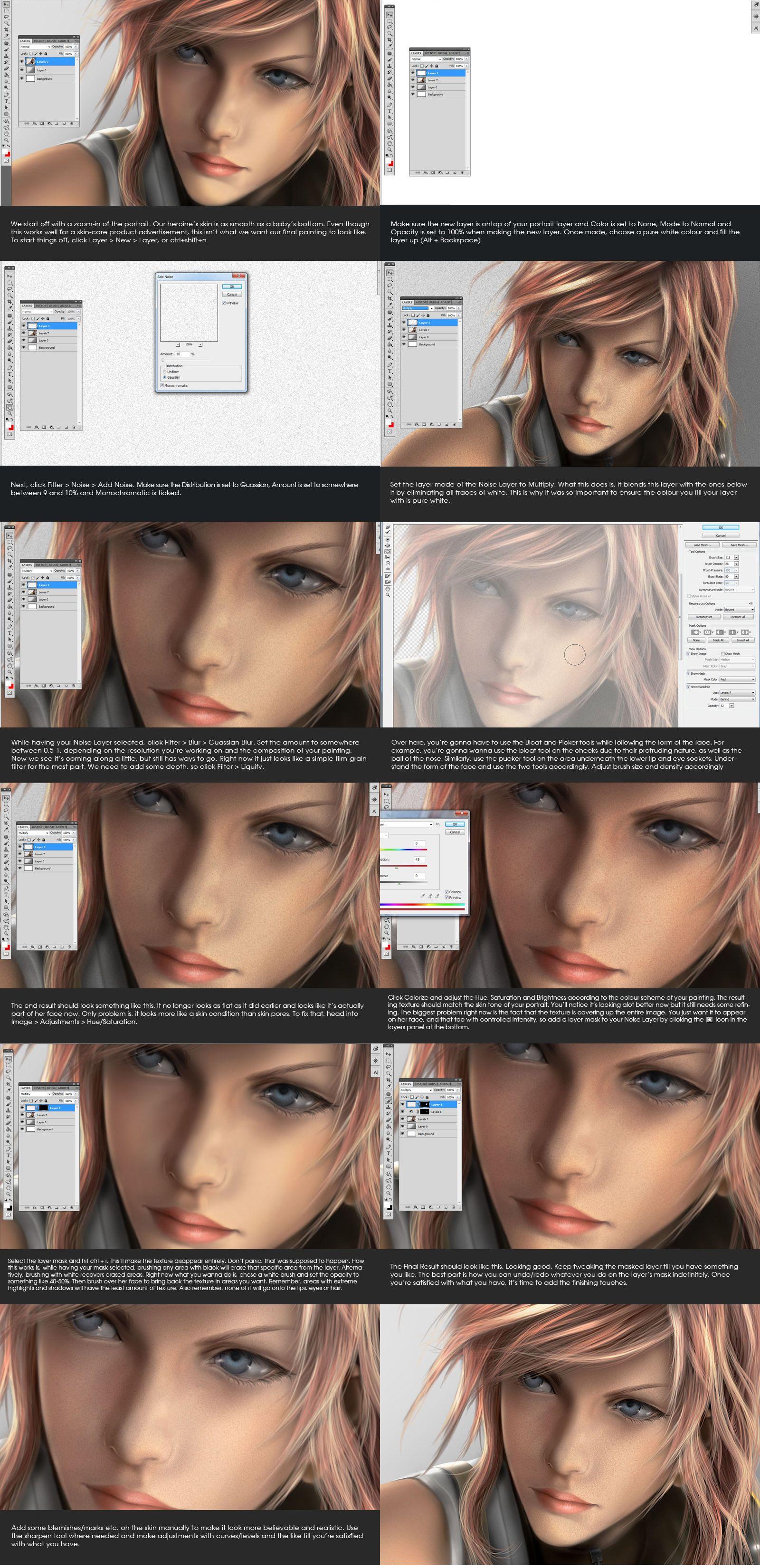 Skin Texture Tutorial by Aameeyurdeviantartcom on deviantART