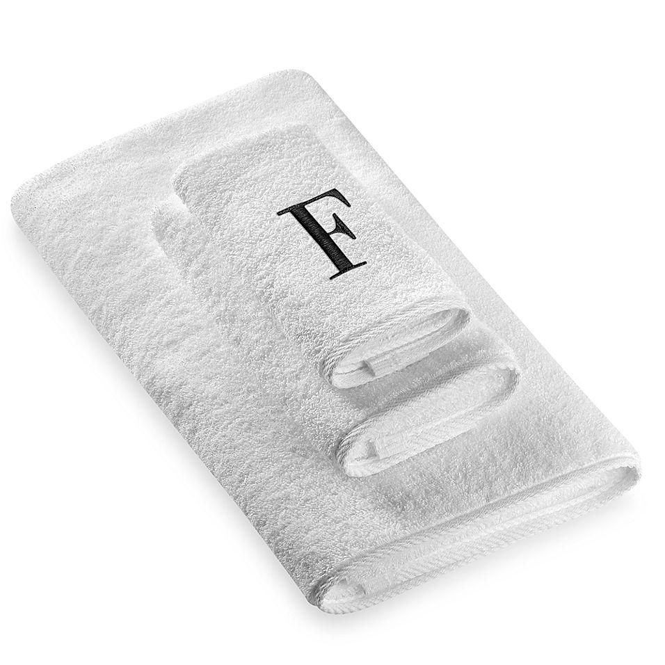 Avanti Monogram Fingertip Towel Monogrammed Bath Towels
