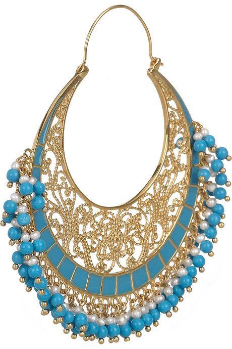 Isharya Moon Bali 18-karat gold-plated earrings2