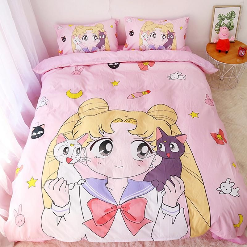 Sailor Moon Bedding Set Cute Bedding Kawaii Bedroom Sailor Moon