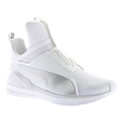 bed9d6ae77d5 Women s Puma Fierce Cross Training Shoe Puma White Puma Silver (US Women s  8 M (Regular)) (metallic)