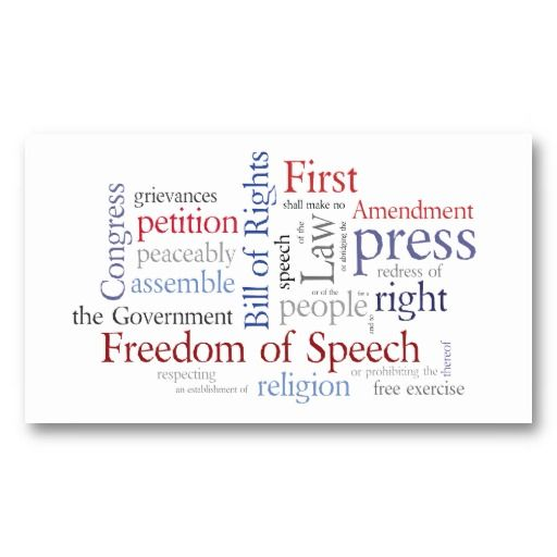 First Amendment Card For Journalist Lawyer  Lawyer Business